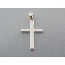 Zlatý prívesok jednoduchý krížik biele zlato DIK071B