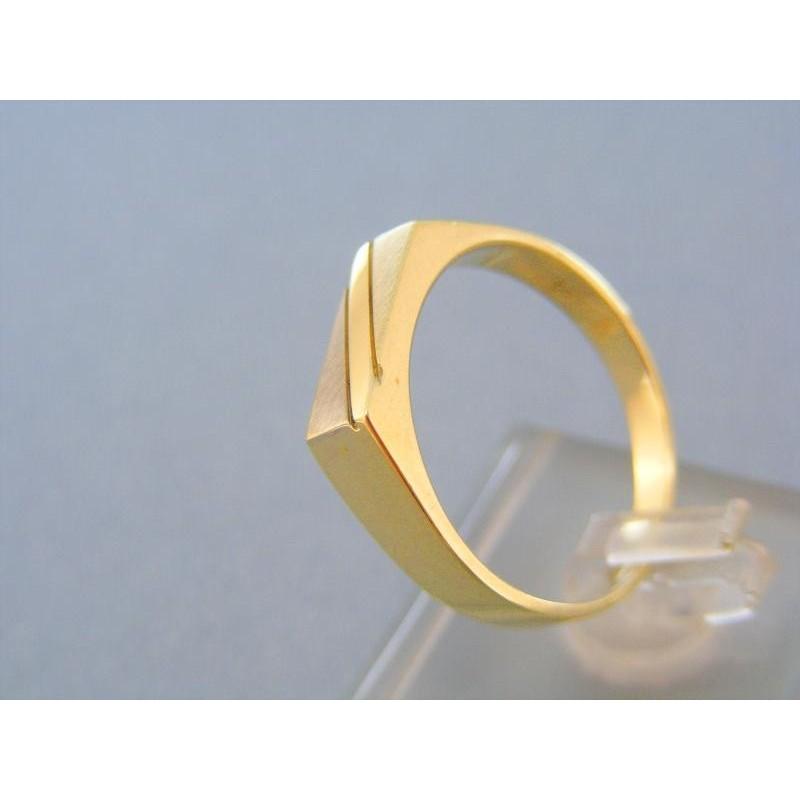 Pánsky prsteň žlté biele zlato 34b092f9bde