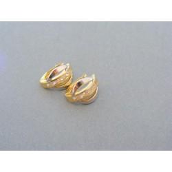 Zlaté náušnice dámske žlté biele zlato zirkóny DA218V
