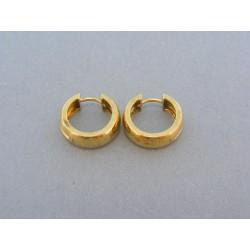Zlaté náušnice male kruhy žlté zlato DA589Z