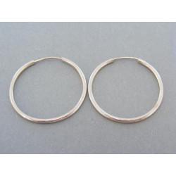Zlaté náušnice kruhy biele zlato povrch je hladký DA201B