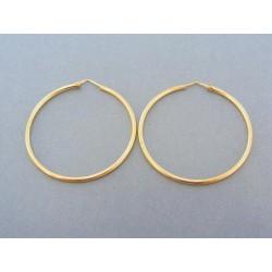 Zlaté náušnice dámske žlté zlato kruhy DA265Z