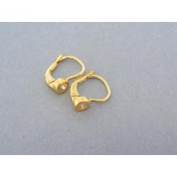 Zlaté náušnice v žltom zlate kamienok zirkónu DA159Z