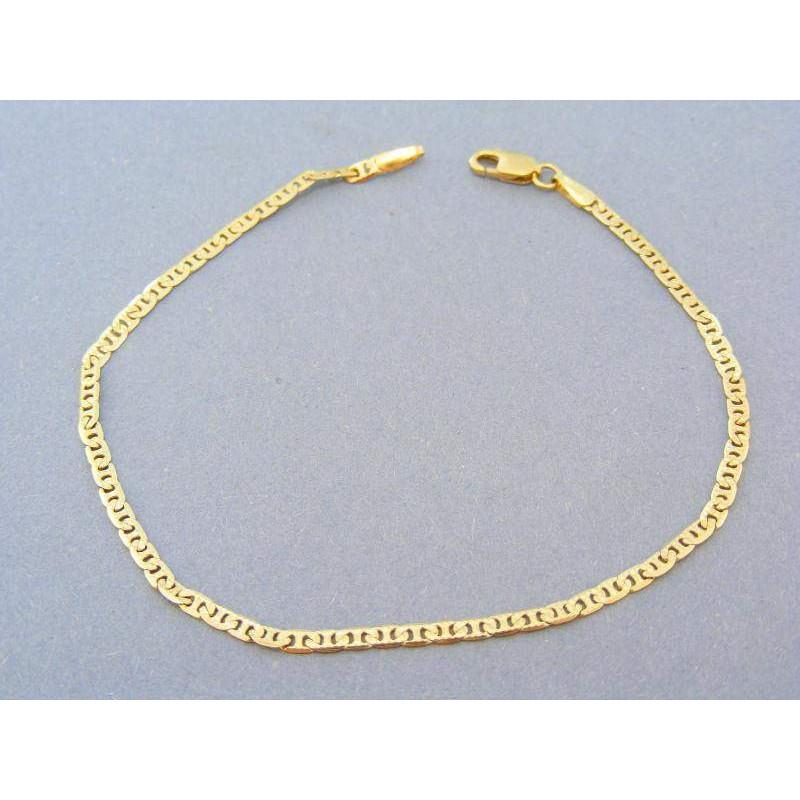 340d12dfa Náramok zo žltého zlata s oválnymi tvarmi