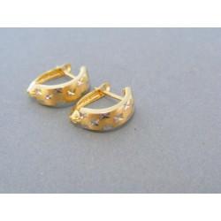 Zlaté dámske náušnice moderné dvojfarebné zlato VA163V c28d3fd724b