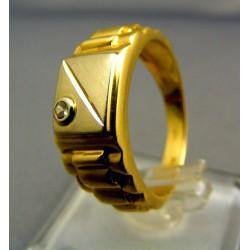 Pánsky prsteň žlté zlato