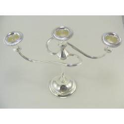 Strieborný svietnik - Alpaka pre tri sviečky D0/8313