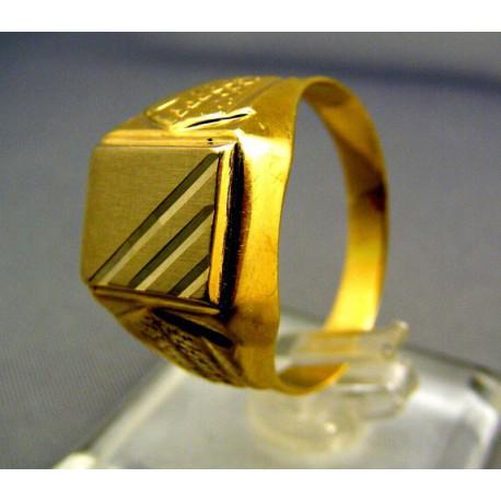 346f73863 Zlatý pánsky prsteň pečatný