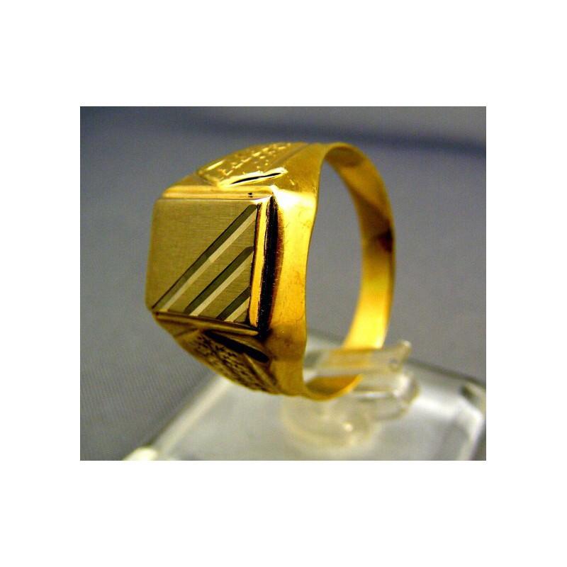 Zlatý pánsky prsteň pečatný 5bafec399a5