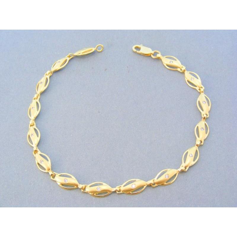 375cd811f Elegantný zlatý dámsky náramok žlté zlato zirkón DN21789Z