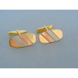 Zlaté manžetové gombík trojfarebné zlato VMG951V