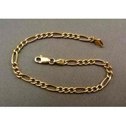 Zlatý náramok vzor figaro zo žltého zlata VN19308Z