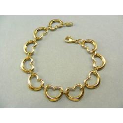 Zlatý náramok vzor srdcia dámsky DN185669