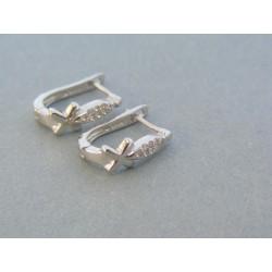 Strieborné náušnice dámske vzorované zirkóny VAS278