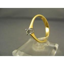 Diamantový prsteň žlté zlato VD54253