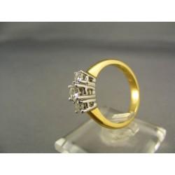 Diamantový prsteň viacfarebné zlato VD55477