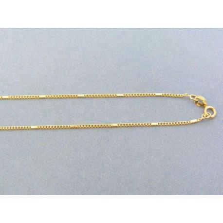 1f2f585f3 Zlatá retiazka žlté zlato okrúhle očká platničky DR45209Zgo