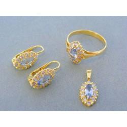 Zlatá súprava náušnice prsteň prívesok žlté zlato VS53577Zso