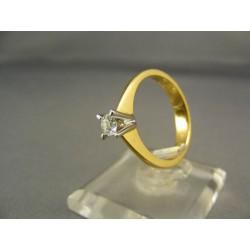 Diamantový prsteň v žltom zlate VD55409