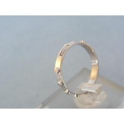 Zlatý prsteň ruženec biele zlato DP52185B