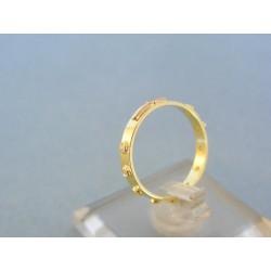 Zlatý prsteň ruženec žlté červené zlato kamienky DP51171V