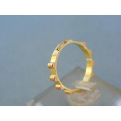 Zlatý prsteň ruženec žlté červené zlato VDP50200V 14 karátov 585/1000 2.00g