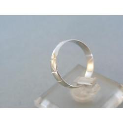 Zlatý prsteň ruženec biele zlato VDP55197B 14 karátov 585/1000 1.97g