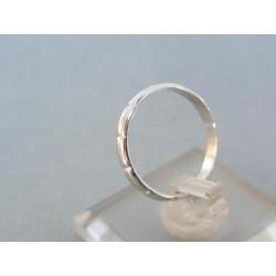 Zlatý prsteň ruženec biele zlato zárezy VP53184B