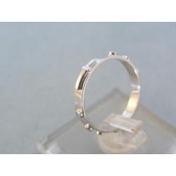 Zlatý prsteň ruženec biele zlato VP52180B