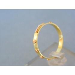 Zlatý prsteň ruženec žlté červené zlato VDP59201V