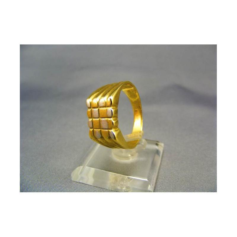 577f427c0 Pečatný pánsky prsteň viacfarebné zlato