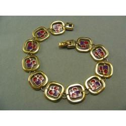 Zlatý náramok dámsky s farebnými sklíčkami VN18948