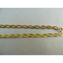 Zlatá retiazka zo žltého zlata vzor slzy VR45683Z