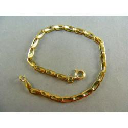 Zlatý náramok žlté zlato pozdĺžne očka DN18282Z