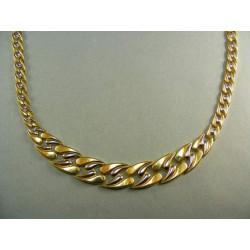 Zlatý náhrdelník zo žltého a bieleho zlata VR451809