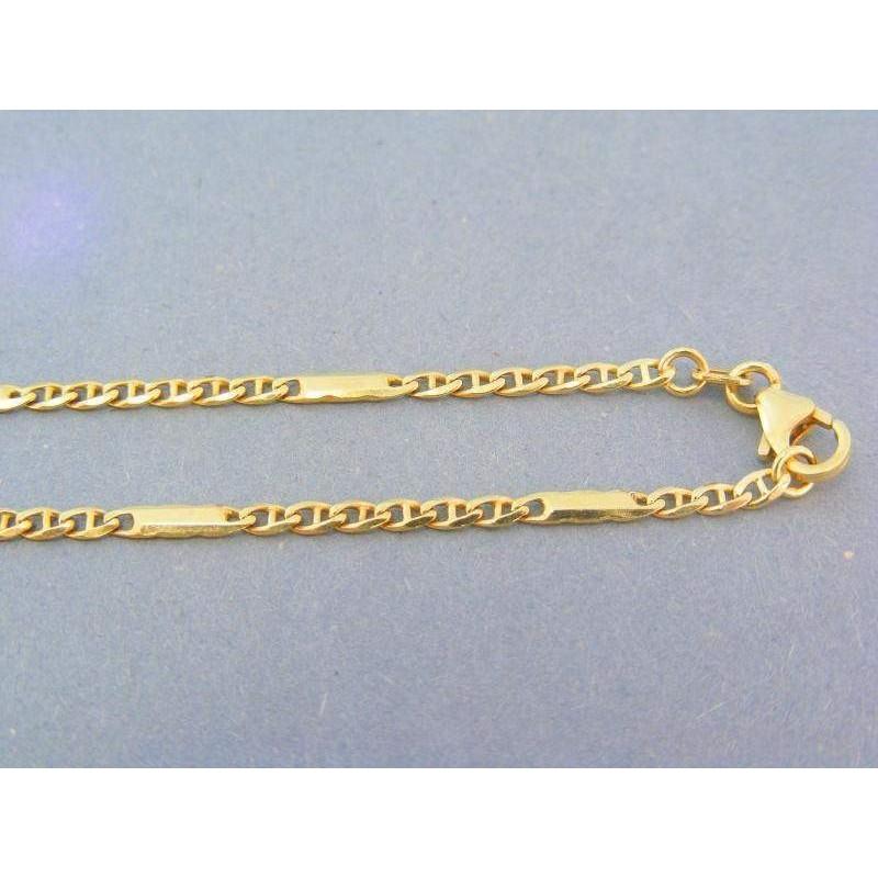 7fab91a1f Zlatá retiazka žlté zlato oválne očká predelené s platničkami VR49678Z. Loading  zoom