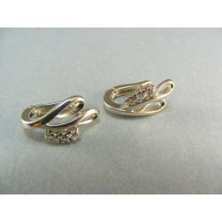 Zlaté náušnice biele zlato s kamienkami DA391B