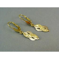 Zlaté náušnice visiace žlté a biele zlato DA238V