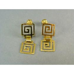 Zlaté náušnice visiace  žlté zlato V254Z