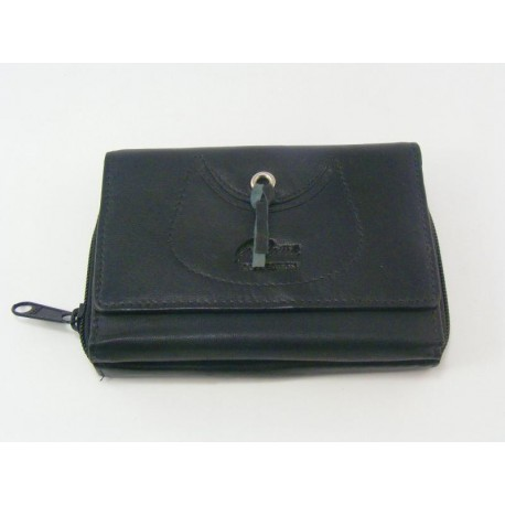 Dámska peňaženka kožená čierna VGALANA034C 6138b1c6adb