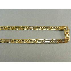 Zlata retiazka v žltom a bielom zlate VR451787V