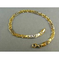 Zlatý náramok dvojfarebné zlato VN19684V