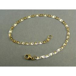Zlatý náramok viacfarebný vzor žiletka VN185239V