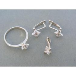 Zlatá súprava náušnice prsteň prívesok zirkóny VS56512B