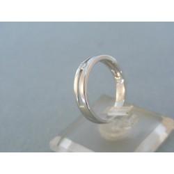 Zlatý prsteň biele zlato briliant VP54293B