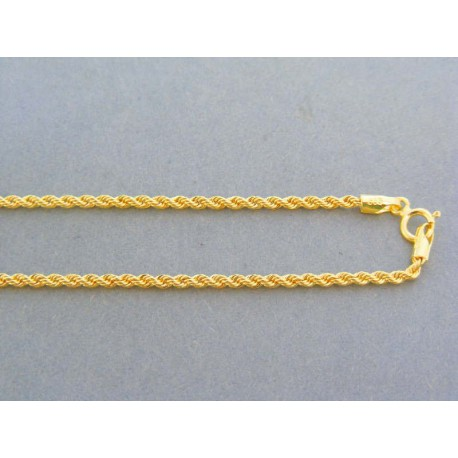 5a93748cf Zlatá retiazka dámska žlté zlato točená VR455178Z