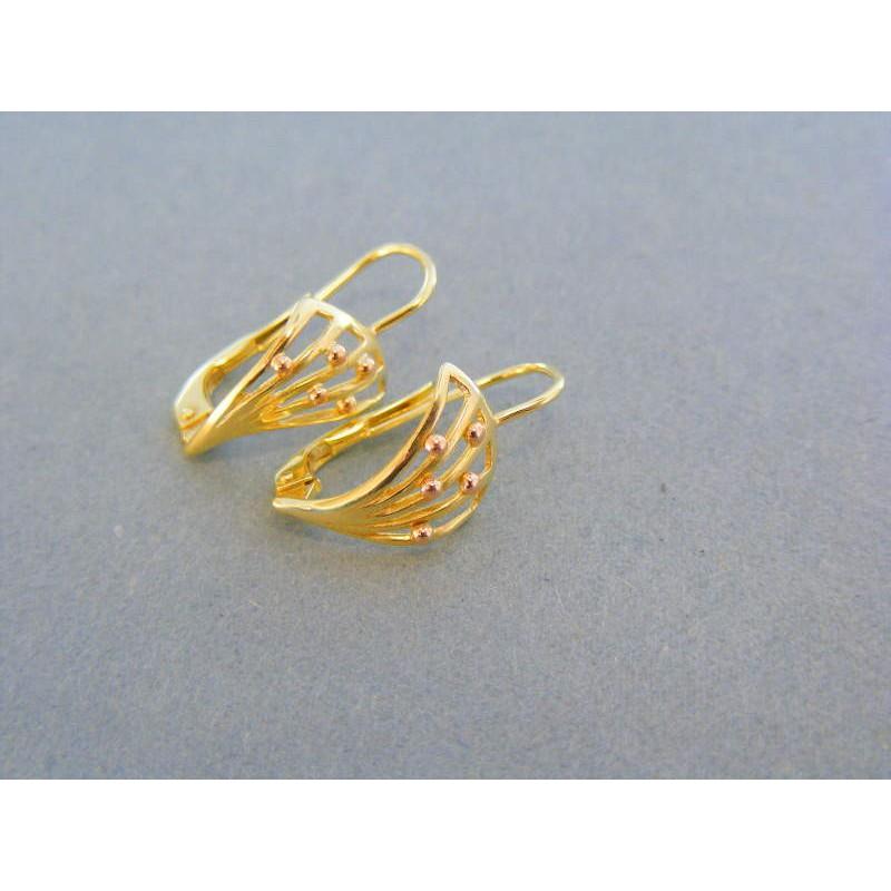 Zlaté dámske náušnice žlté zlato červené guličky VA169V. Loading zoom 8278649d8b0