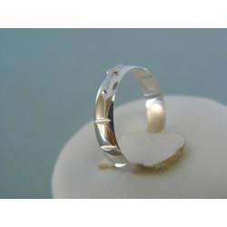 Zlatý prsteň ruženec biele zlato VDP50164B 14 karátov 585/1000 1.64g