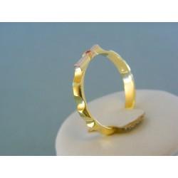 Zlatý prsteň ruženec žlté červené zlato kameň rubín DP65403V