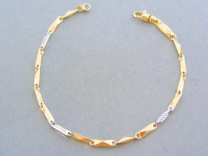 7db7ed657 Zlatý dámsky náramok žlté biele zlato